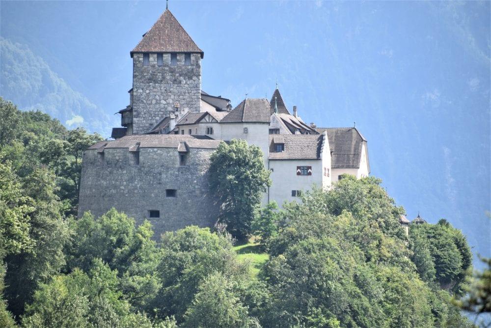 Vaduz Castle on the mountainside, Liechtenstein