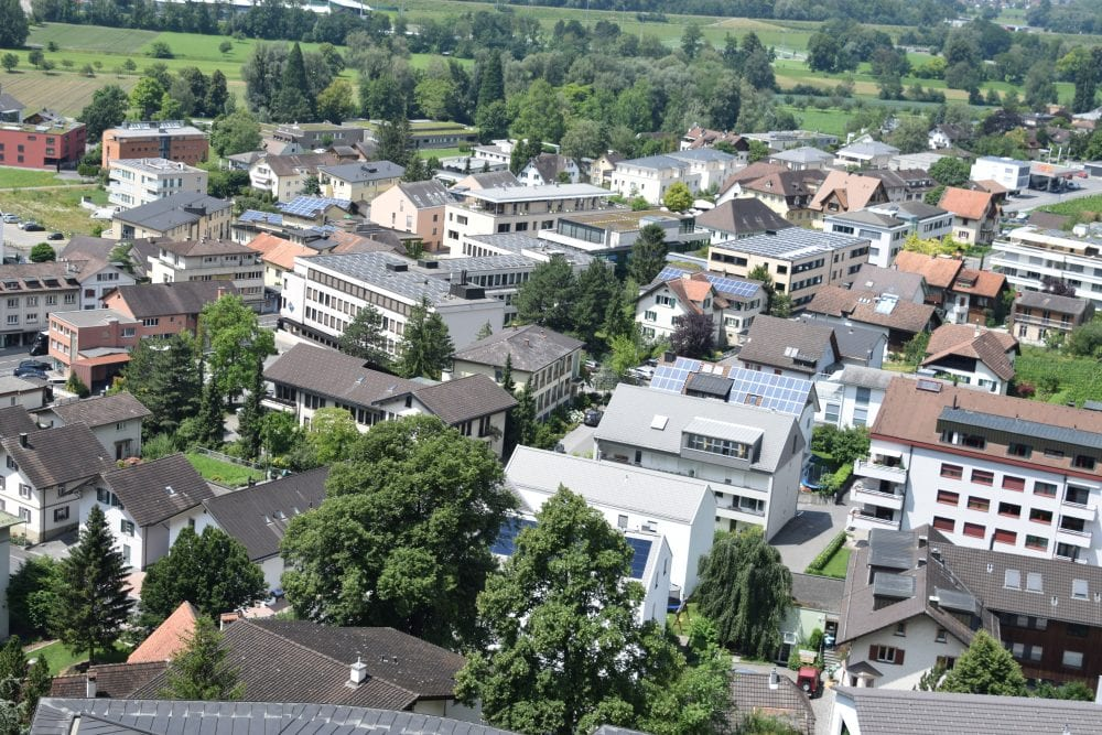 A view of Vaduz from above