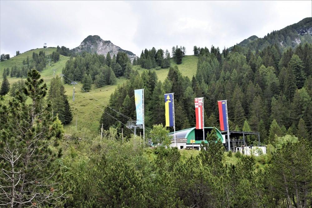The chairlift station at Malbun Liechtenstein