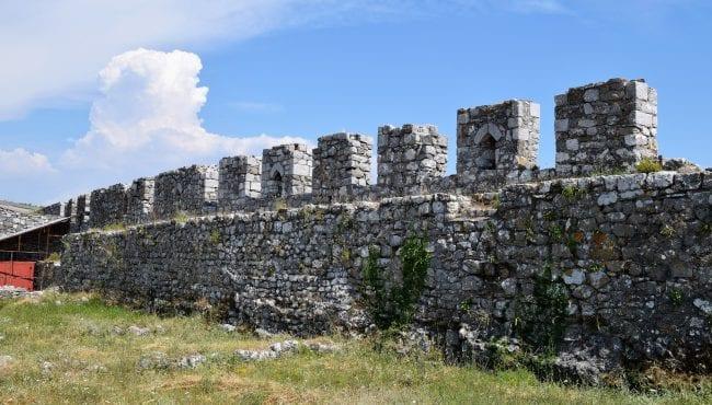 Shkoder Castle stone battlements