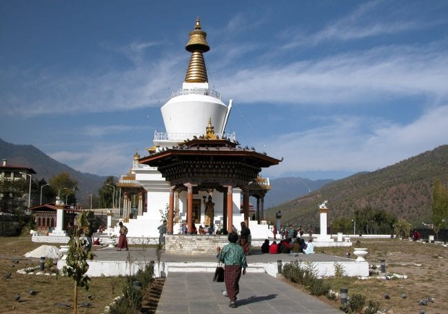 The stupa and shrine at the National Memorial Chorten