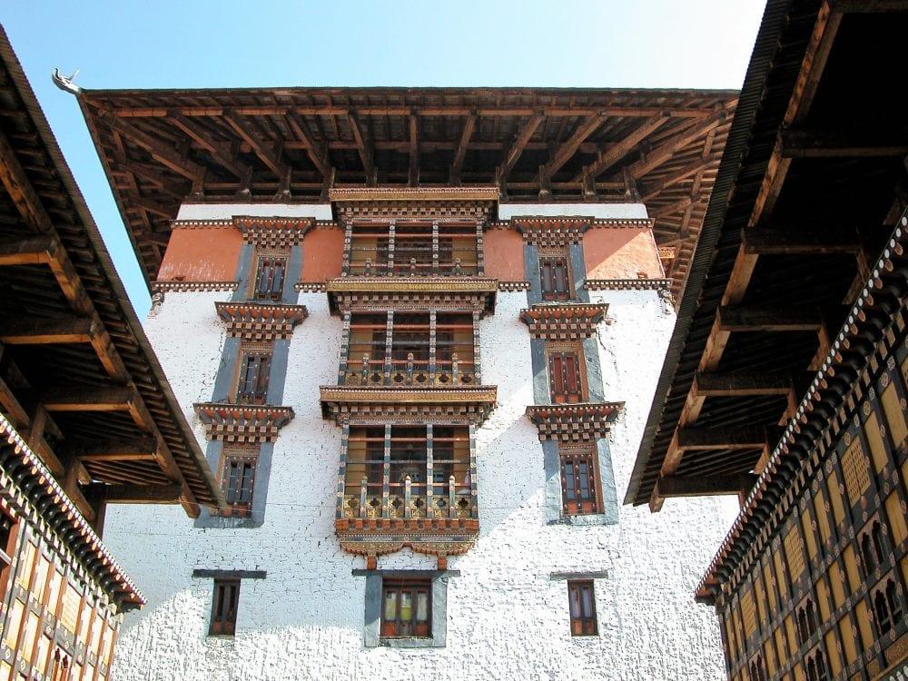 The courtyard of Rinpung Dzong
