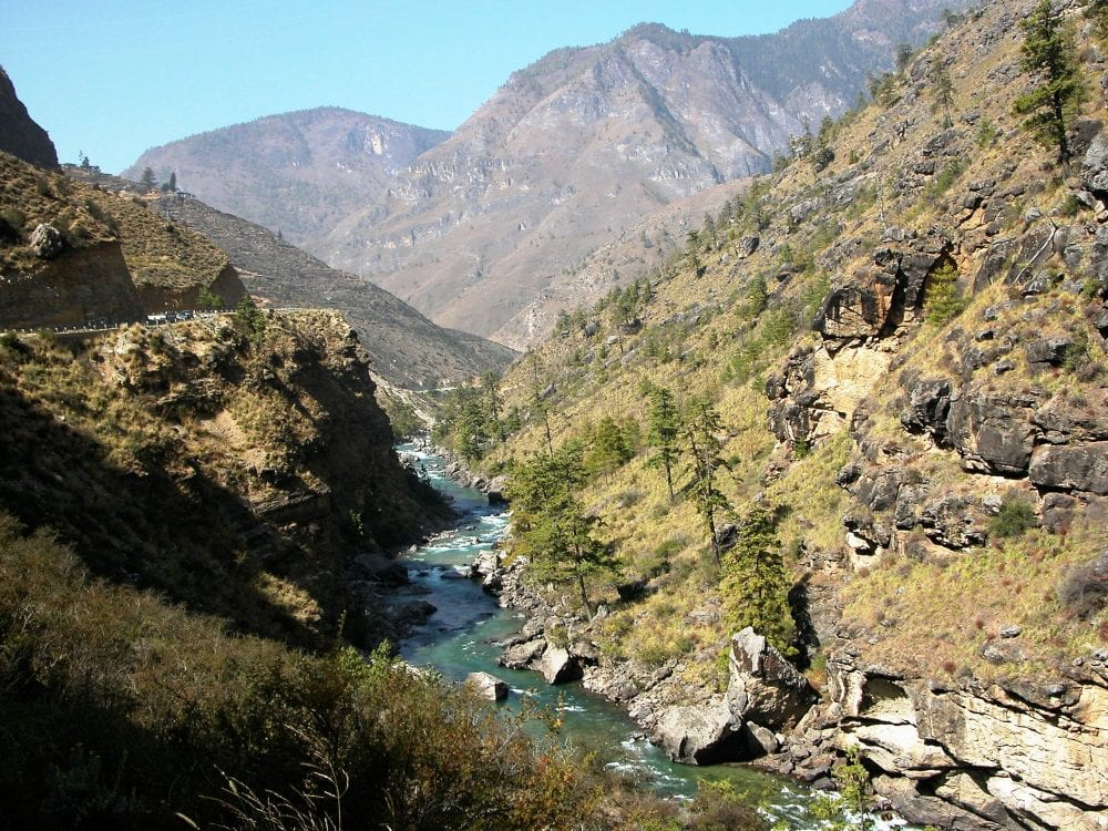 A mountain stream in Bhutan