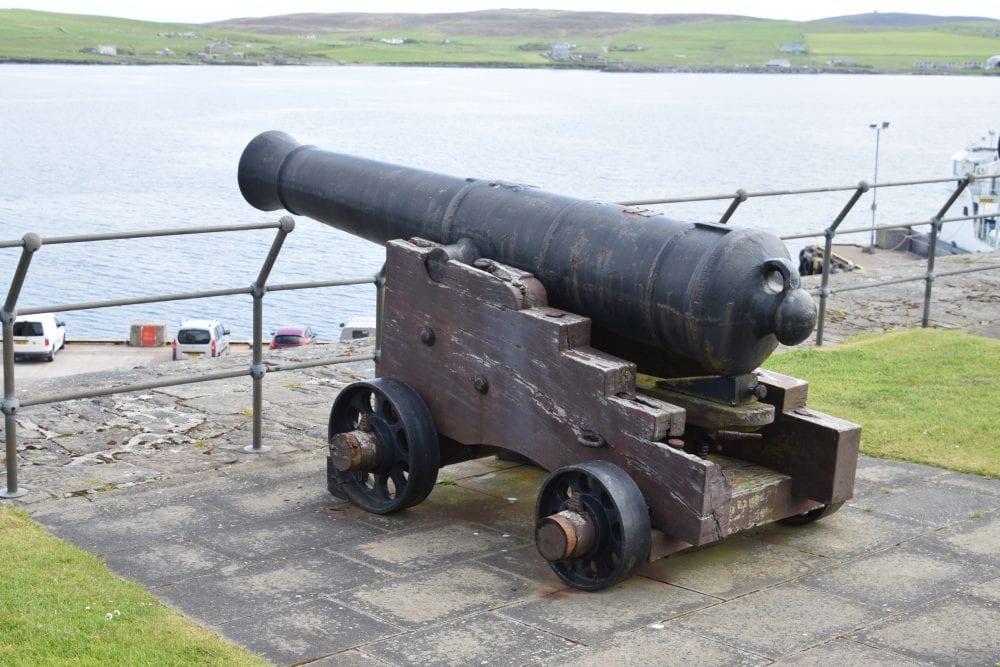 Replica cannon at Fort Charlotte, Lerwick