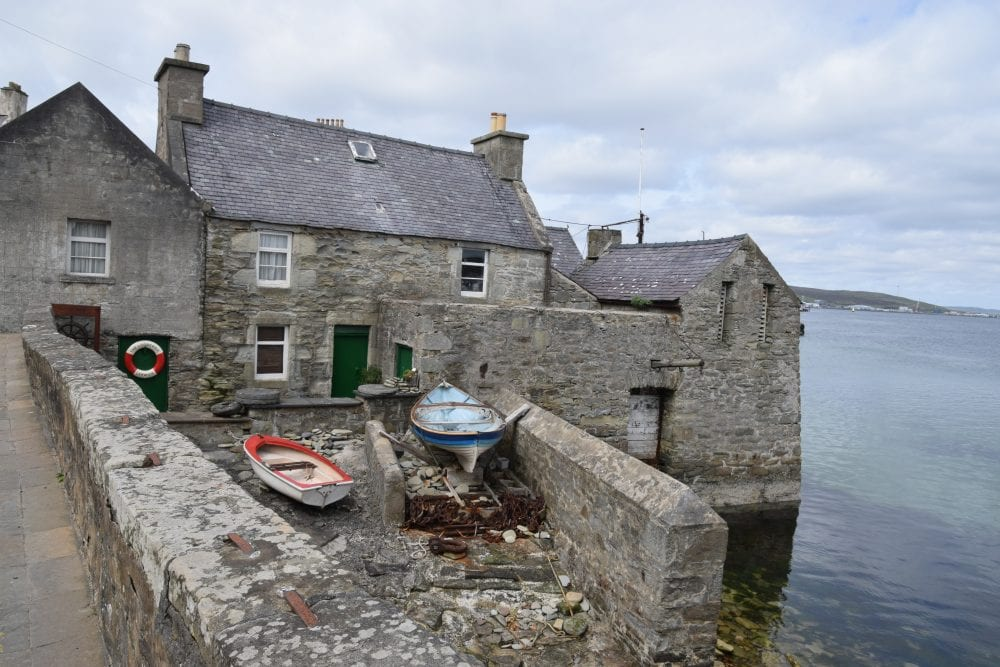 'Jimmy Perez House' by the water in Lerwick, Shetland