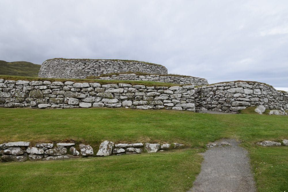 A view of the restored Broch at Clickimin, Shetland