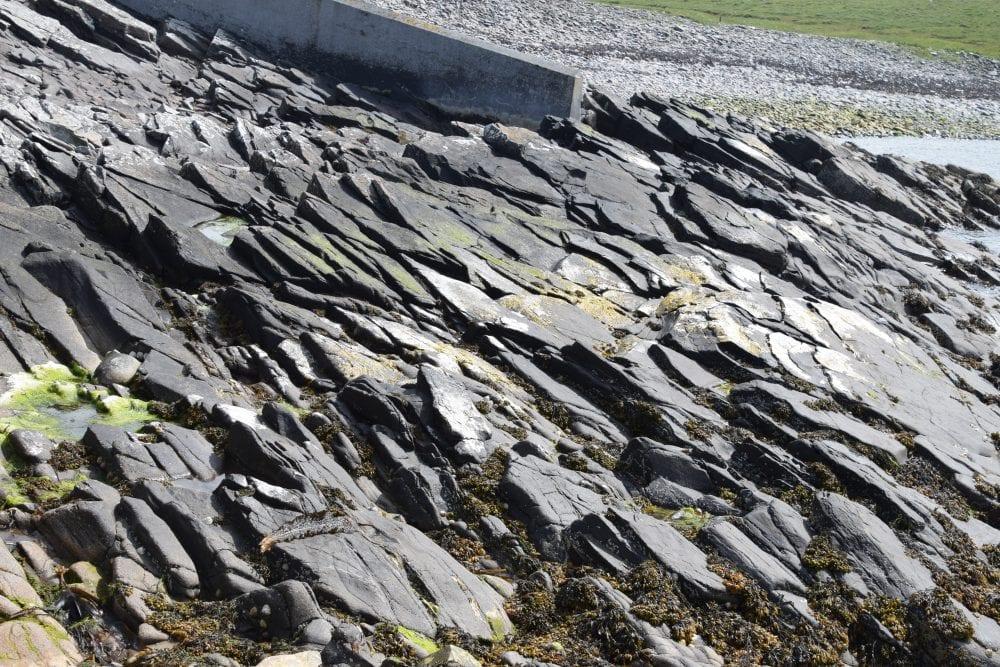 Overlapping scale like rocks on Mousa island, Scotland