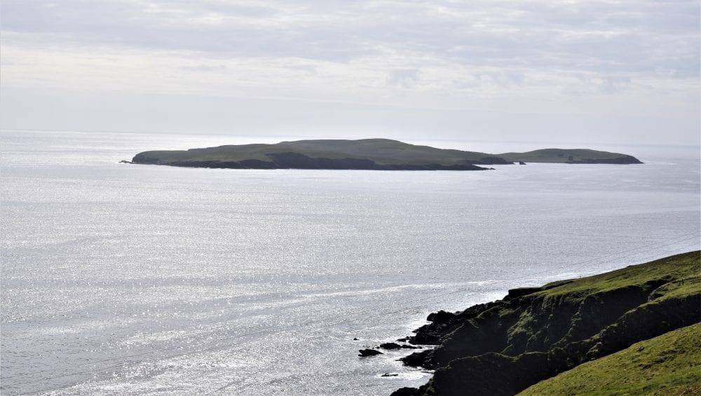 Mousa Island, seen from mainland Shetland, Scotland