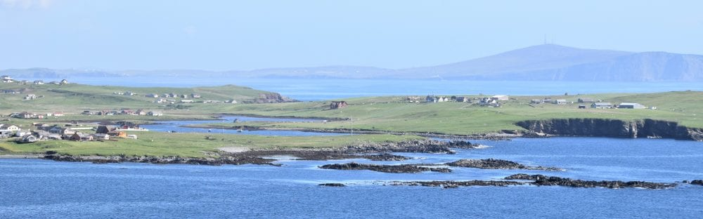 A stunning view across islands and bays around Sumburgh Head, Shetland