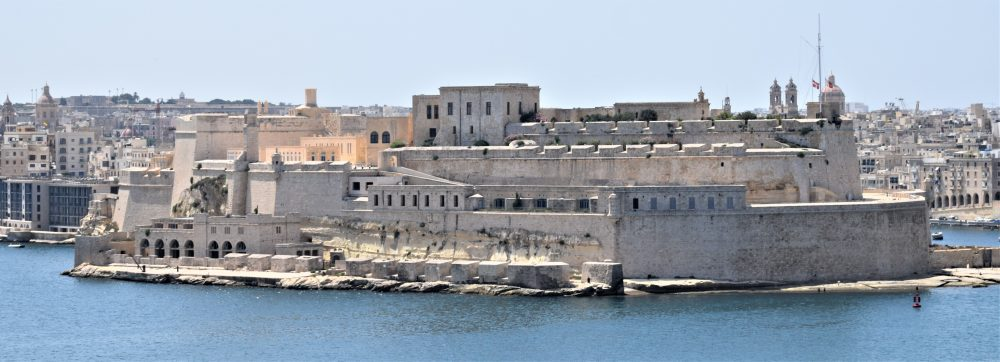Fort St Angelo, Malta viewed from the ferry