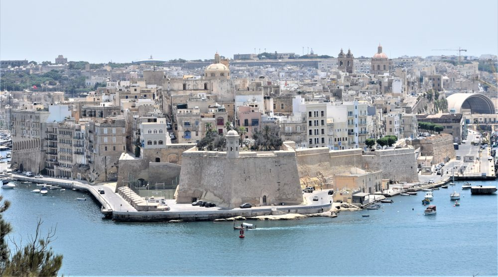 The Senglea peninsula viewed from Valletta