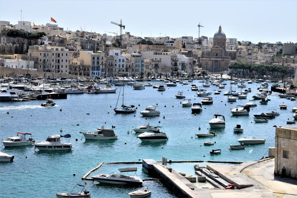 Boats in the harbour at Birgu