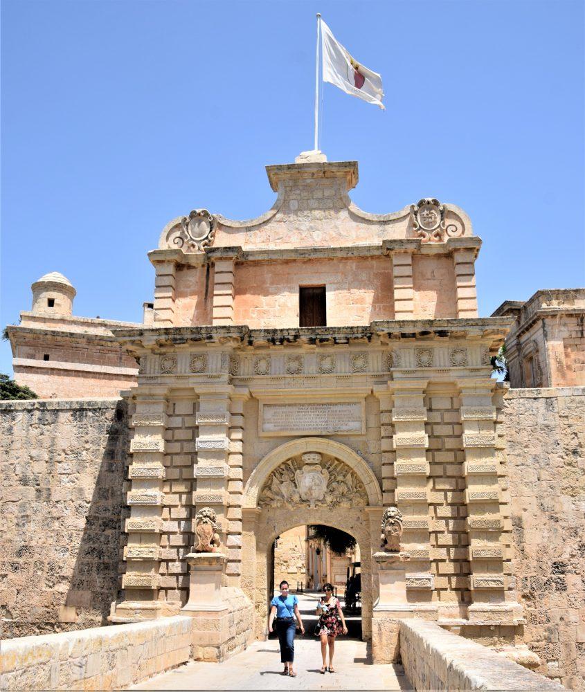The gate at Mdina