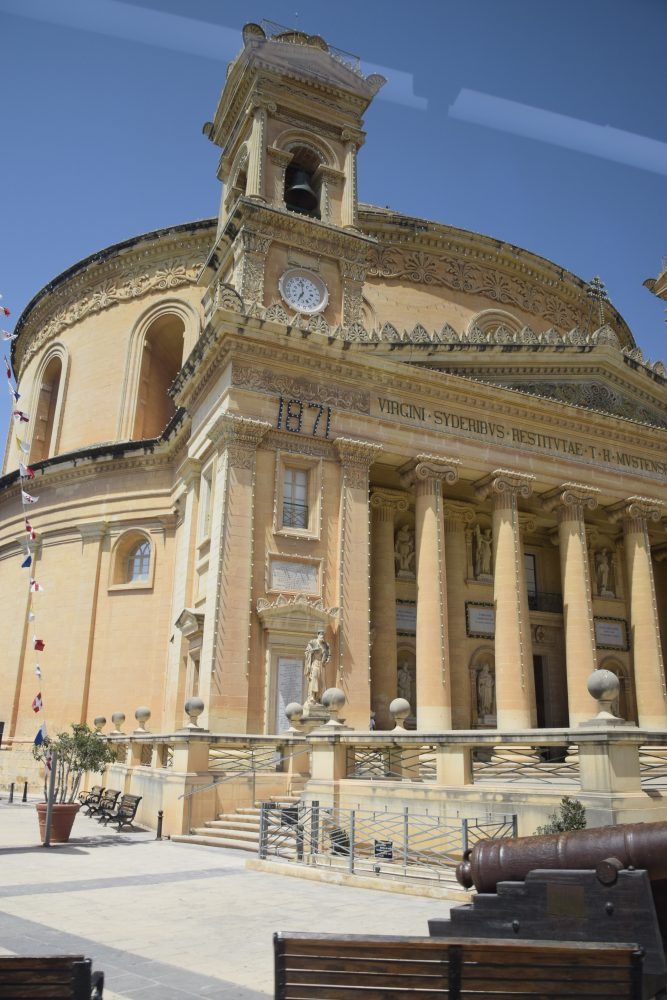 A front view of the domed church at Mosta, Malta