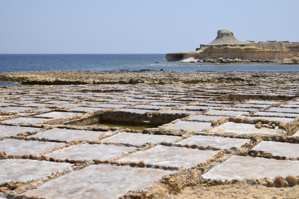 Salt pans at Xwejni Bay, Marsalsforn, Gozo