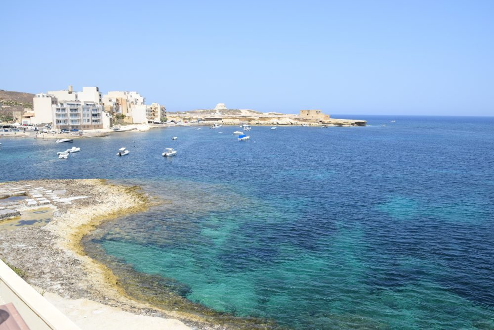 A view across the bay at Marsalsforn, Gozo