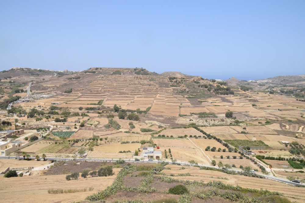 Rural Gozo seen from Victoria