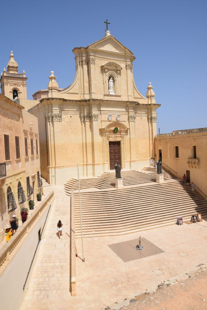 Front elevation of the Cathedral of the Assumption of the Blessed Virgin, Rabat, Gozo