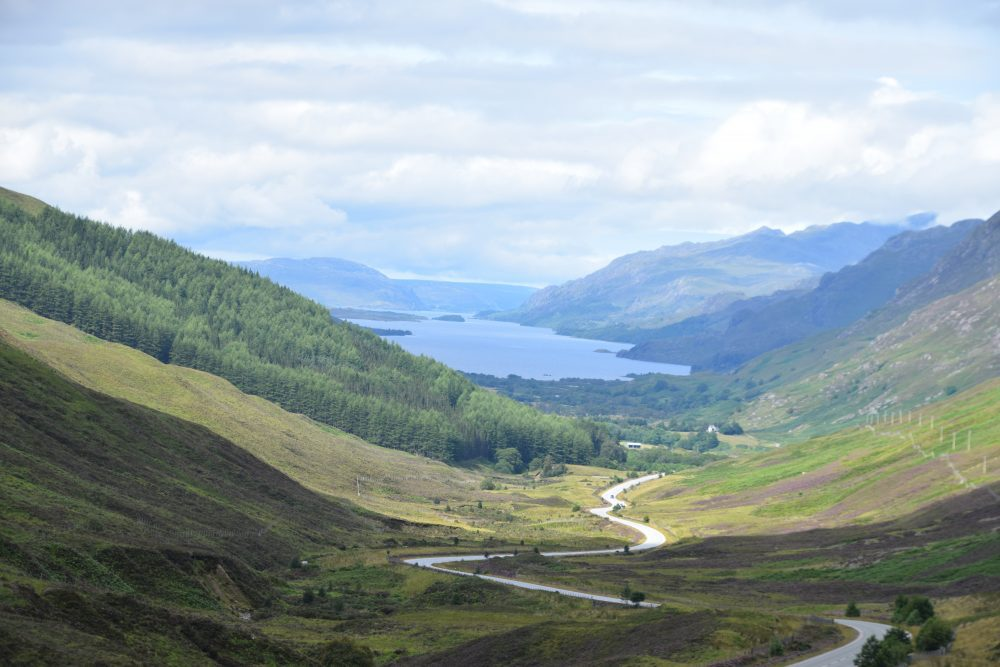 Loch Maree seen from a high viewpoint