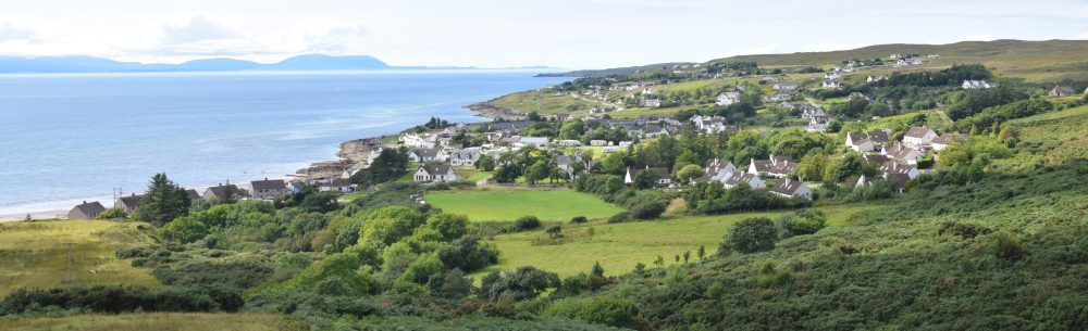 A panorama of Gairloch village