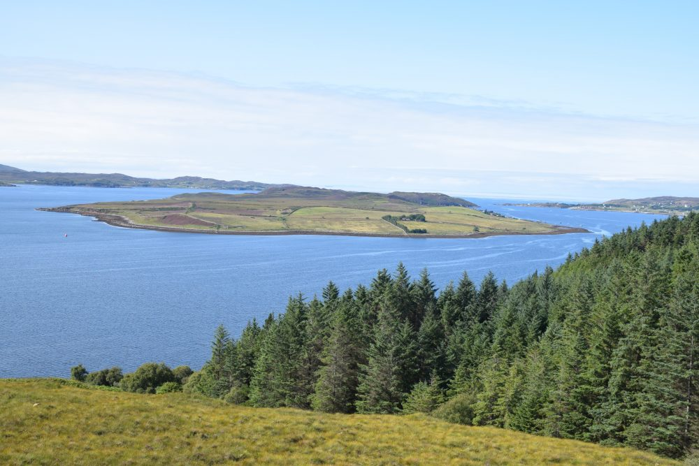 An islet in a sea loch in north west Scotland