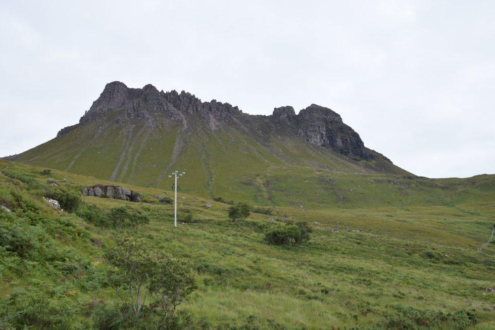 The sawtooth ridge of Stac Poleaidh mountain