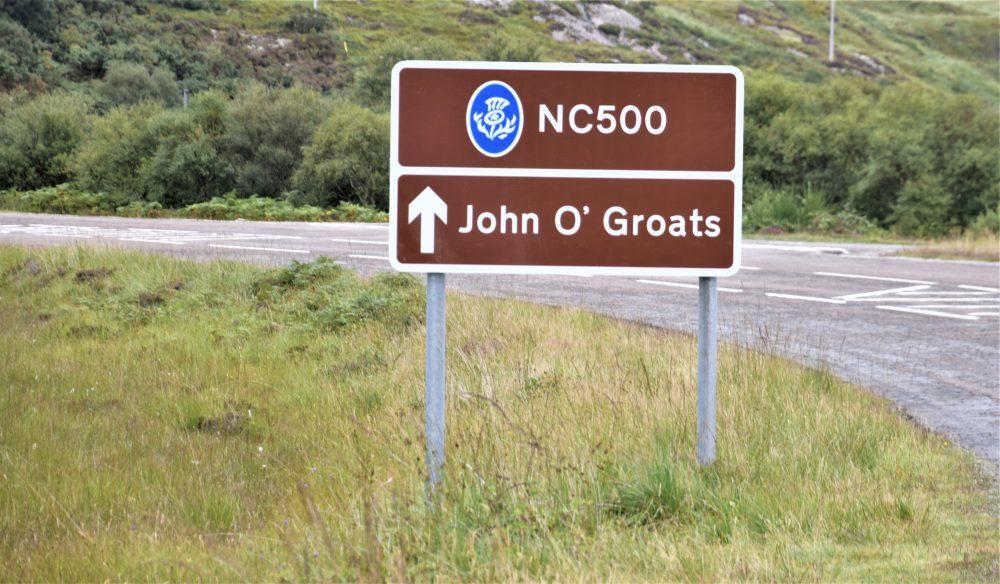 NC500 road sign