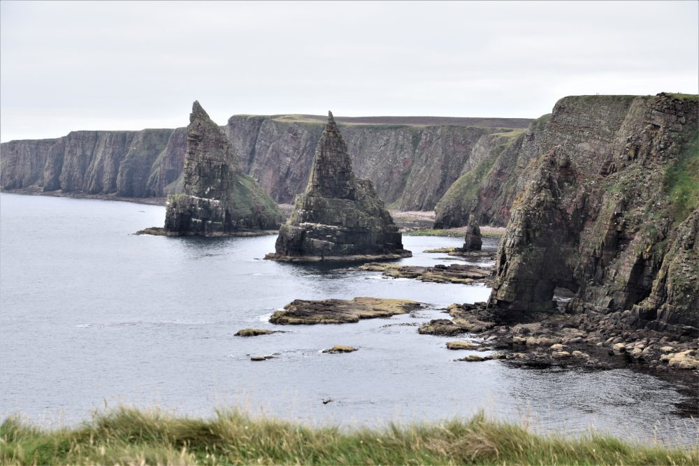 The stacks and arch at Duncansby Head