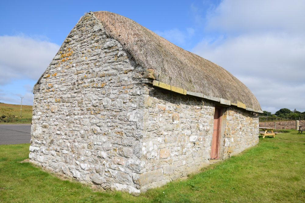 A traditional crofters house at the Laidhay Crofting Museum