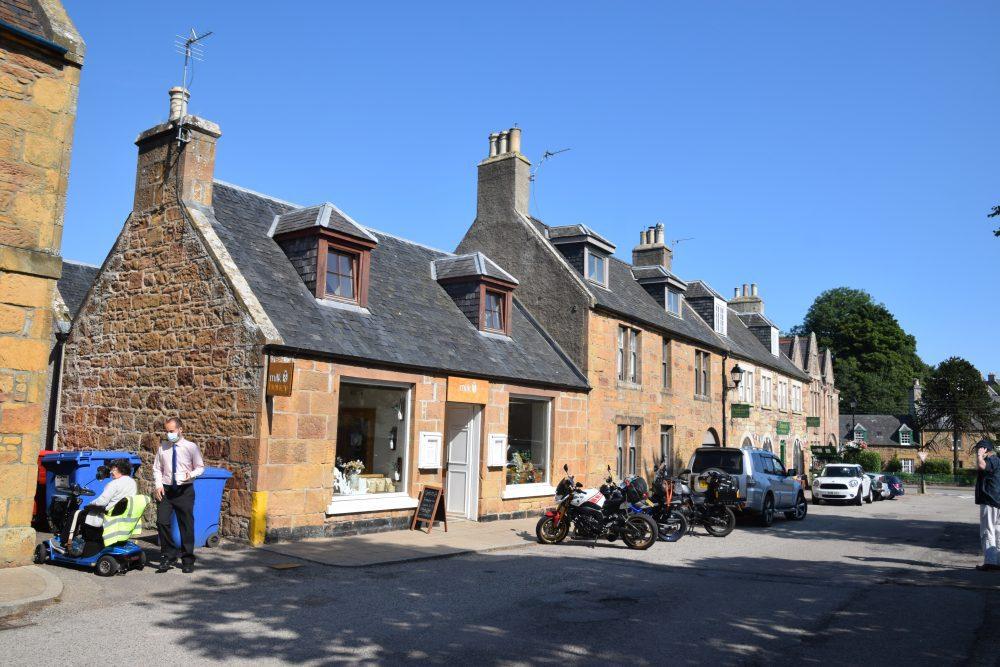 The sandstone High street at Dornoch