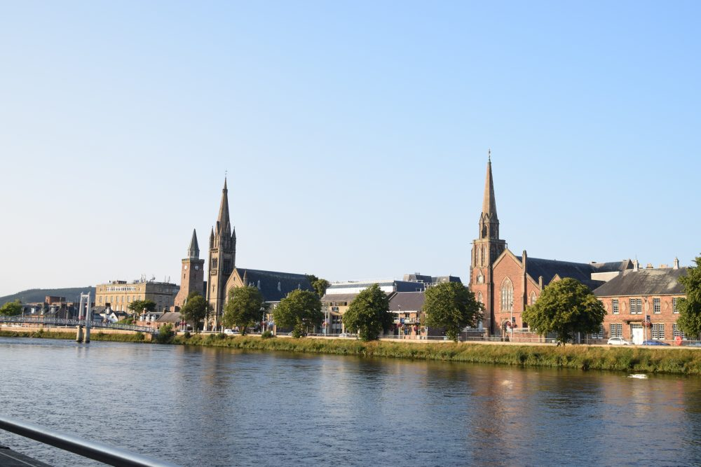 Churches on the banks of the River Ness, Inverness