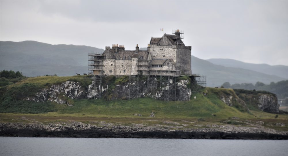 A panoramic view of Duart Castle, Mull