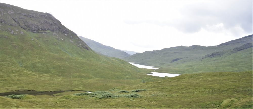 Rolling hills and lochans in Mull