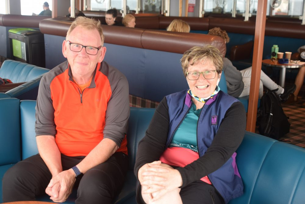 Louise and David on the ferry to Barra in the Western Isles