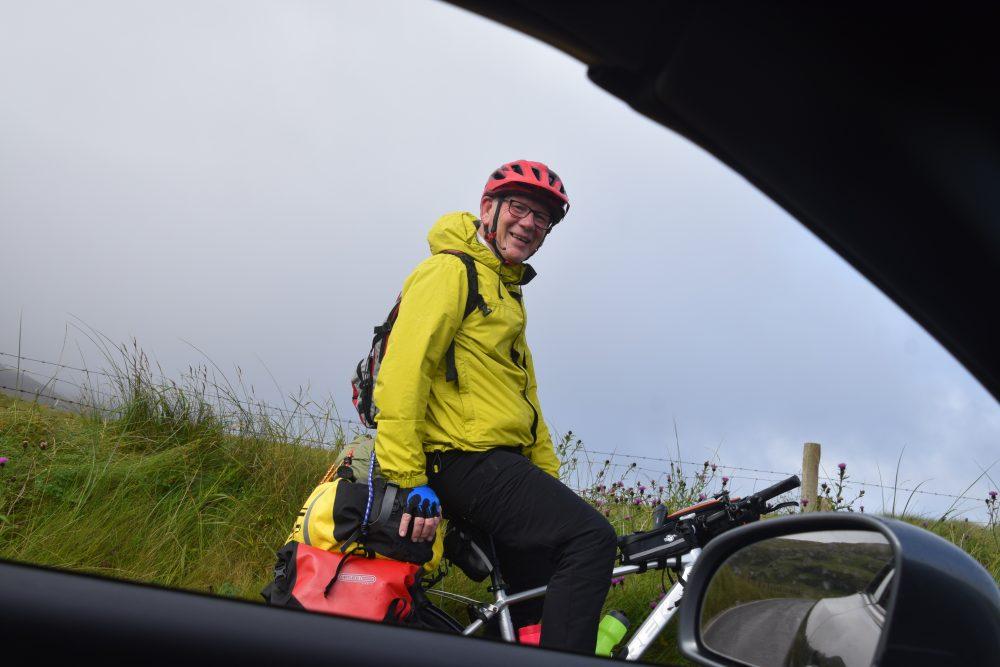 David cycles the Hebridean Way in Barra, Western Isles
