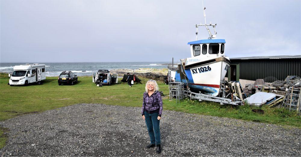 Sue by the coast on Barra, Western Isles