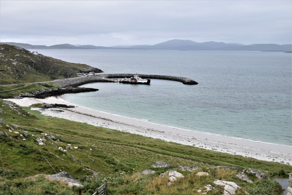 The ferry in the small harbour at Eriskay