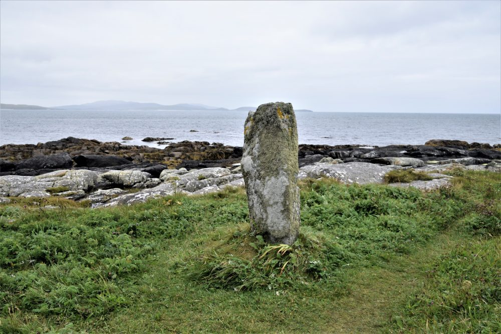 A standing stone in South Uist, Western Isles