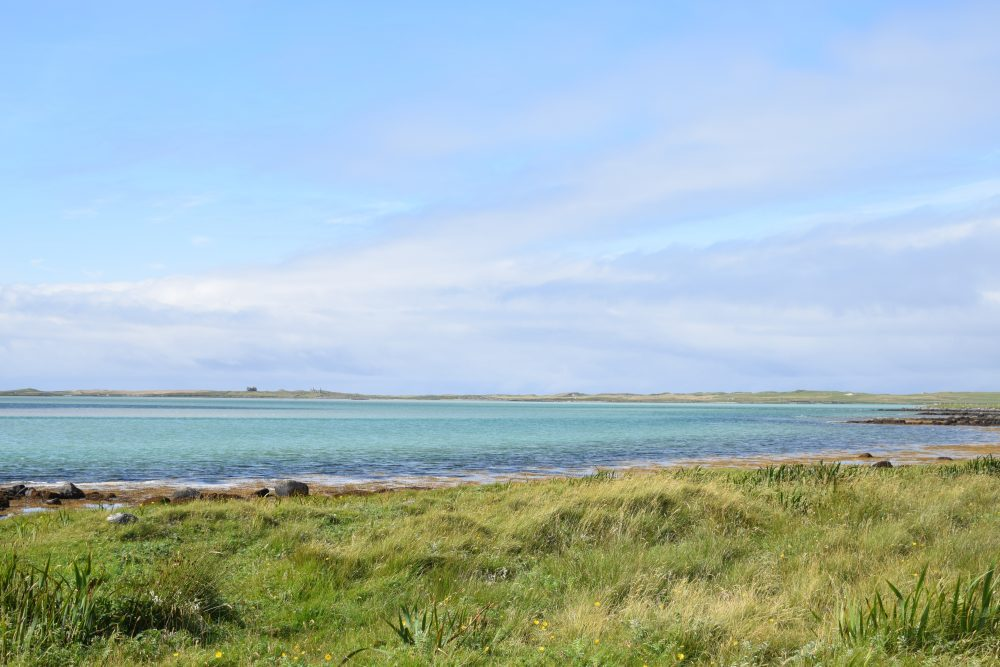 Turquoise seas off the coast of North Uist, Western Isles