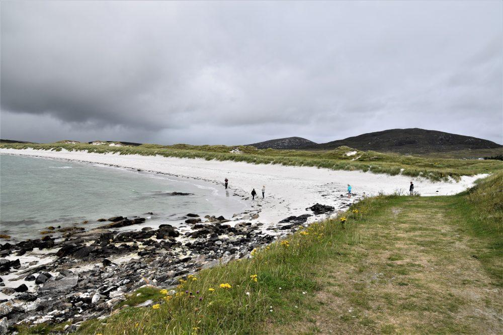A powdery white beach at Berneray, Western Isles