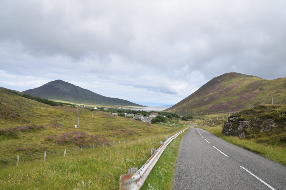 The road through the hills in South Harris