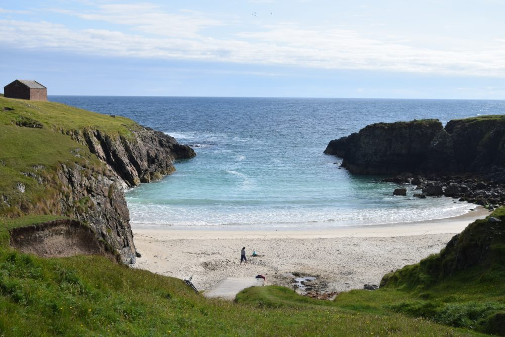 Port Stoth - beautiful cliff ringed sandy cove, Lewis