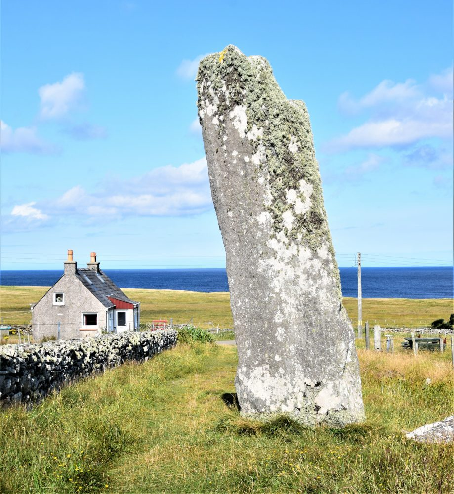 The Thrushel Stone, the tallest single standing stone in Scotland, Lewis