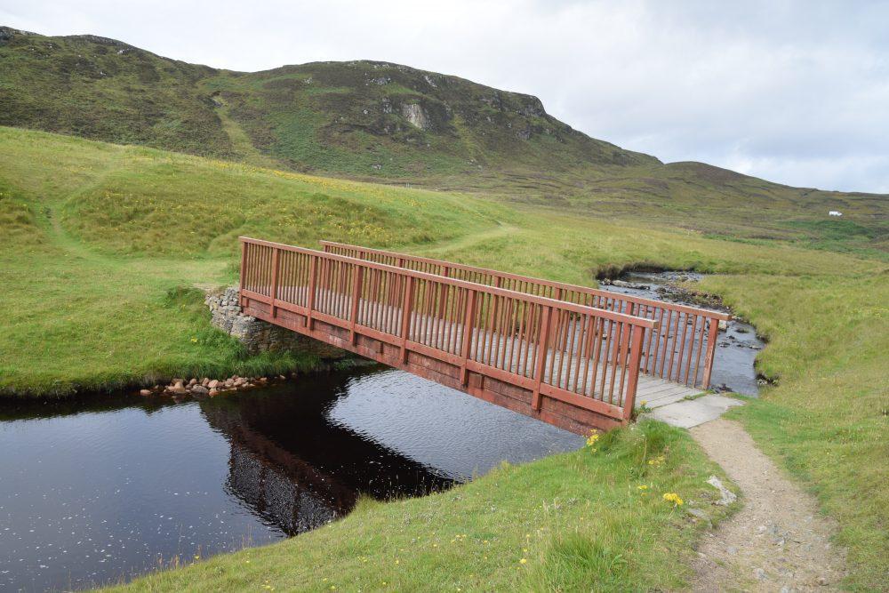 The Bridge to Nowhere, Garry Beach, Lewis, Western Isles